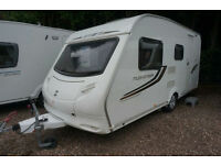 2010 SPRITE MUSKATEER EB LIGHTWEIGHT 5 BERTH CARAVAN - TRIPLE FIXED BUNKS -