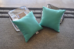 Turquoise Outdoor pillows (2)