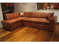 Leather sofa FOR SALE Real Genuine Leather Corner Sofa Bed 164x245 Couch in Stock Stevenage SG1
