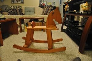 A lovely wooden rocking horse