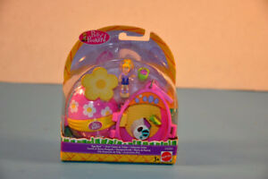 2001 NEW Polly Pocket Compact Egg Hunt Playset Figure Toy