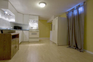 Large bright Basement suite for rent available now