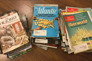 The New Yorker, The Atlantic and The Economist magazines