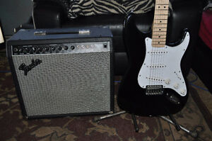 Fender princeton 1-12 plus and fender starcaster student guitar
