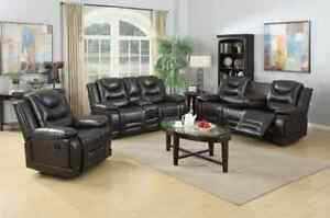 ★LORD SELKIRK FURN★3PC LEATHER GEL RECLINER SET★$1899.00
