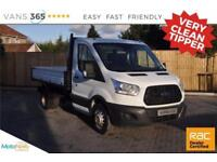 Ford Transit ONLY 54K MILES FACTORY ONE STOP ALLOY TIPPER 125 BHP 350 C/C DRW
