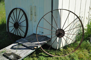 Old iron wheels for decoration