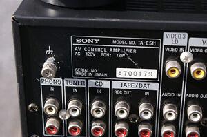 Sony TA-N511 amp, TA-E511 preamp & ST-JX411 tuner (SOLD!) Kingston Kingston Area image 7