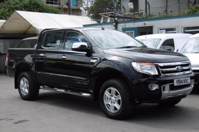 2014 FORD RANGER 22 TDCI 150 LIMITED AUTOMATIC 4X4 DOUBLE CAB PICK UP IN BLACK