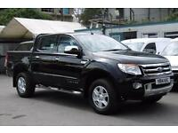 2014 FORD RANGER 2.2 TDCI 150 LIMITED AUTOMATIC 4X4 DOUBLE CAB PICK UP IN BLACK