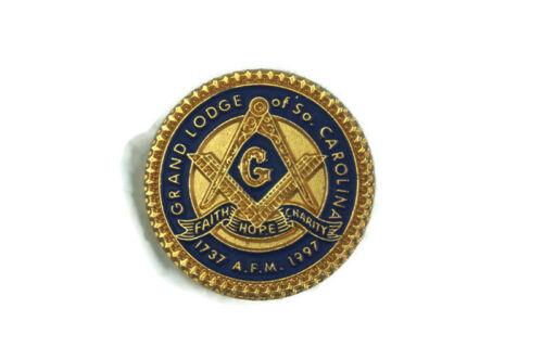 Grand Lodge of South Carolina Free Mason Lapel Hat Pin 1737-1997