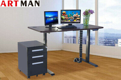 Electric Height Adjustable Desk Frame And Table Top 60 Dual Motor Sit To Stand