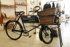 traditional British Raleigh cargo bike for rent (events, shops)