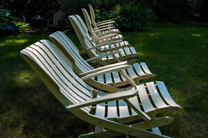 Four-Position Deck Chairs & Custom-made Cushions