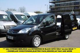 2014 CITROEN BERLINGO 625 ENTERPRISE L1 HDI DIESEL VAN IN BLACK WITH ONLY 30.000