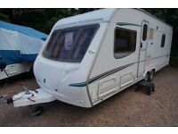 2005 ABBEY SPECTRUM 540 4 BERTH FIXED BED CARAVAN - TWIN AXLE - FLAGSHIP SPEC