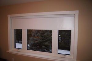 "High quality blackout blinds- white-61x34"""" (2 available)"