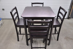 LIKE NEW 5-Piece Walnut Counter-Height Dining Set CHEAP!