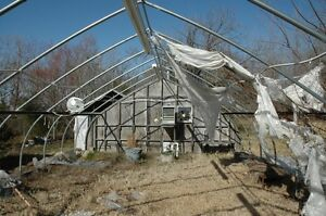 I'm looking for any old greenhouses or hoop houses