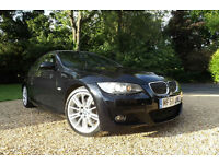 2008 58 BMW 325d M Sport AUTO COUPE 3.0 TD TIPTRONIC FULL LEATHER FSH XENONS 18""