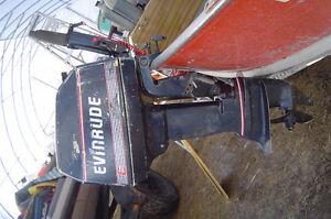 91 EVINRUDE 8 HP OUTBOARD SHORT SHAFT TILLER HANDLE