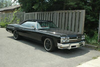 CLASSIC 1974 BUICK LE SABRE LUXUS/ALL BLACK  CONVERTIBLE SHARP