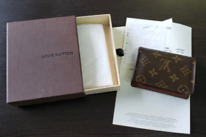 Louis Vuitton card holder w/bill and box