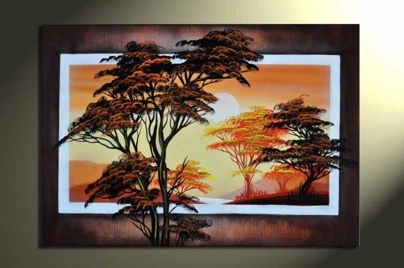Afrika+M1-+Leinwandbild+100x60cm+Handgemalt