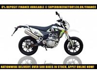 2017 SINNIS APACHE SUPERMOTO EFI 125CC, 0% DEPOSIT FINANCE AVAILABLE