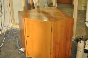 Corner Liquor Cabinet with Lock - Wood veneer Kitchener / Waterloo Kitchener Area image 1