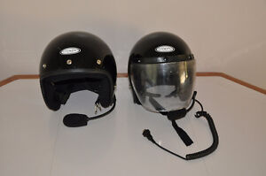 Two Black THH Helmets With Intercom