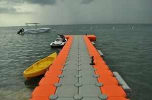 floating-dock extremely flexible in size, design, light weight