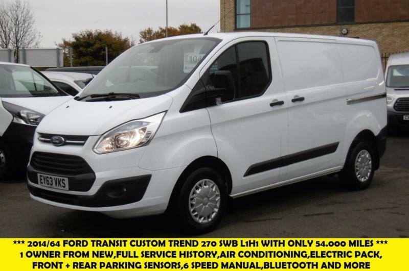 2013 FORD TRANSIT CUSTOM 270 TREND L1H1 SWB DIESEL VAN WITH ONLY 54.000 MILES,AI