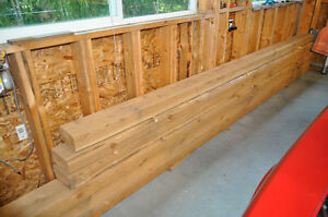 4x8 red cedar beams/timbers- 14ft and 18ft.