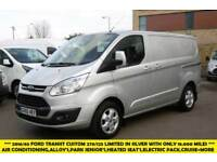 2016 FORD TRANSIT CUSTOM 270/125 LIMITED L1H1 SWB DIESEL VAN IN SILVER WITH ONLY