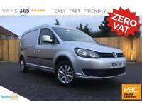 VW Caddy Maxi NO VAT AIR CON TWIN SIDE LOADING DOORS ALLOYS TDI BLUEMOTION TECH