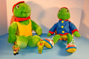 "Lot FRANKLIN Turtle Talking Plush 14"" Dress Me Doll Figures Toys"