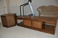 Solis Pecan wood Coffee Table and End Tables