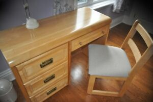 Desk & Chair solid pine
