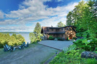 Stunning waterfront cottage with 335ft on Lake Memphremagog!