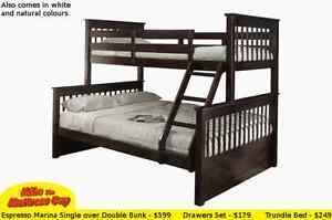 MIKES GOT SINGLE OVER DOUBLE BUNK BEDS STARTING AT JUST $299