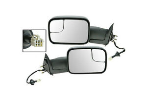94-01Dodge1500,98-02 2500,3500 POWER HEATED TOWING FLIPUP MIRROR