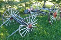 Vintage 1800's Horse Drawn Buggy Chassis