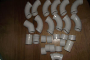 26 Pieces Of Unused 2 Inch PVC Elbows and Connectors