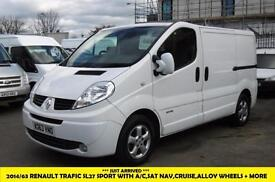 2014 RENAULT TRAFIC SL27 SPORT,AIR CONDITIONING,ALLOY WHEELS,CRUISE CONTROL,SAT