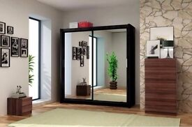 BERLIN SLIDING 2 DOOR WARDROBES SPECIAL OFFER BRAND NEW // SAME DAY DELIVERY ALL OVER LONDON//