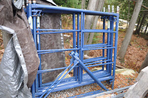 4 section scaffolding with accessories.