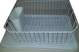 FREE RUBBERMAID ANTIMICROBIAL SMALL DISH DRAINER & TRAY