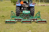 Commercial Finishing and de-mossing Lawn Mower
