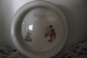 Vintage baby / toddler cerial bowl - Little Gyp & Trixie